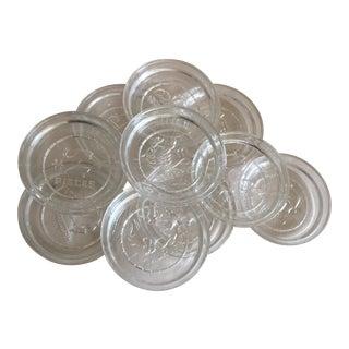 Vintage Zodiac Glass Coasters - Set of 10