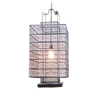Heibe Wire Work Jonk Lantern & Edison Bulb