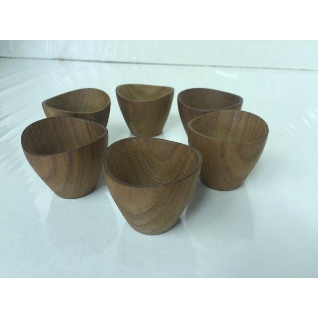 Ernst Henriksen Tiny Danish Teak Bowls - Set of 6 - Image 2 of 11
