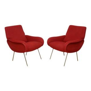 Pair of Italian Modern Armchairs, Marco Zanuso