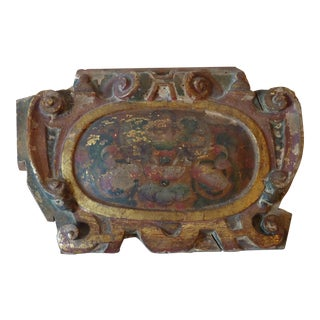 South American Painted Architectural Fragment