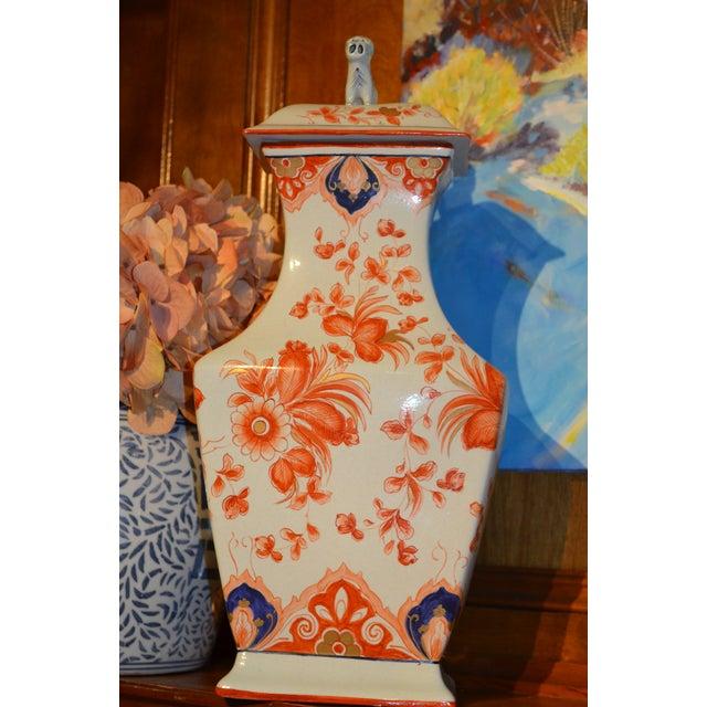 """Italian Meiselman Covered Imari Vase, 18"""" - Image 2 of 9"""
