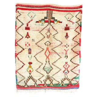 "Vintage Azilal Moroccan Berber Rug - 4'3"" x 5'4"""