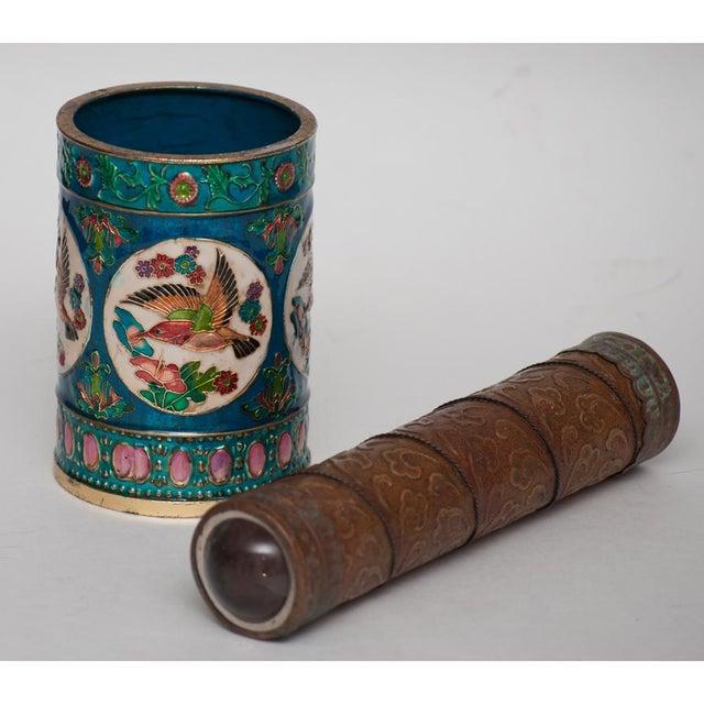 Vintage Peking Brush Pot & Kaleidoscope - Image 6 of 11