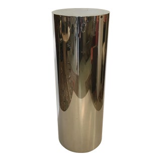 Tall Mid-Century Modern Stainless Steel Pedestal