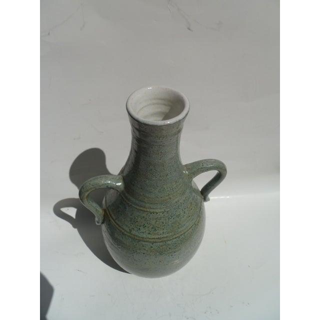 Pastel Blue Stoneware Vase - Image 2 of 2
