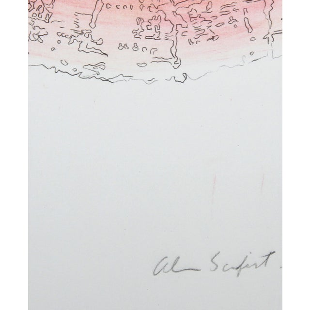 Alan Sonfist - Tree Trunk Series Pink 2 Litho - Image 2 of 2