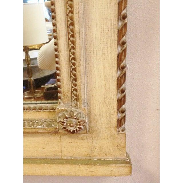Vintage LXVI Style Painted Trumeau Mirror - Image 4 of 4