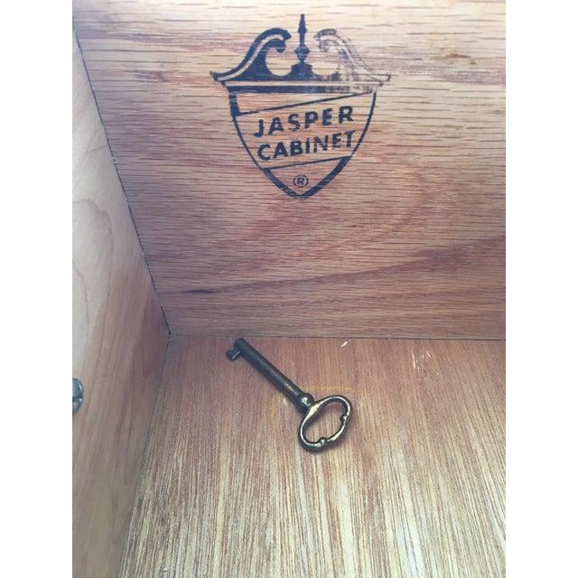 Jasper Furniture Lighted Maple Secretary Desk - Image 10 of 11