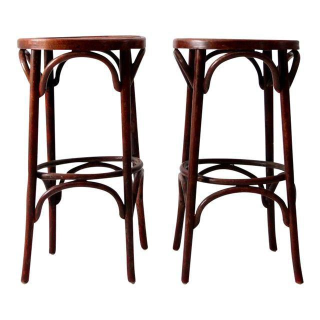 1950's Bentwood Cafe Stools - A Pair - Image 1 of 7