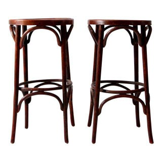 1950's Bentwood Cafe Stools - A Pair