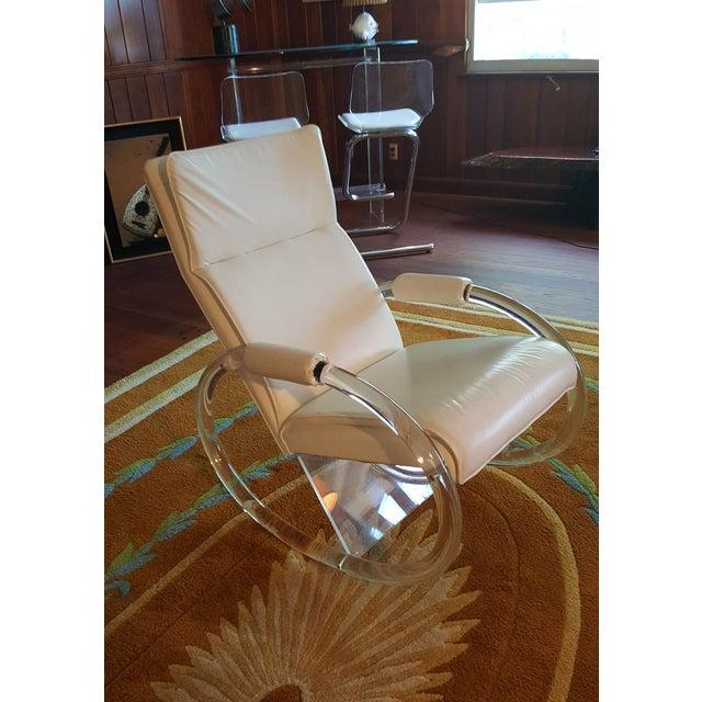 Charles Hollis Jones Vintage Lucite Rocking Chair - Image 3 of 8