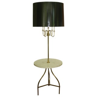 Paul McCobb Floor Lamp With Round Marble Table