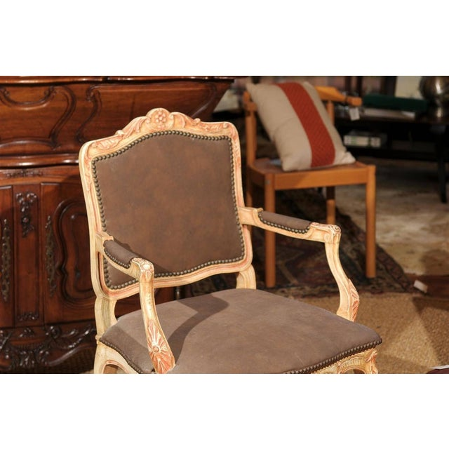 Louis XV Style Painted Bergere Chair - Image 3 of 7