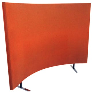 Orange Upholstered Scandinavian Room Divider