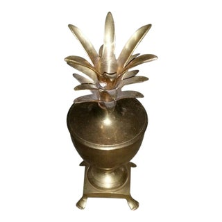 Hollywood Regency Brass Pineapple Urn