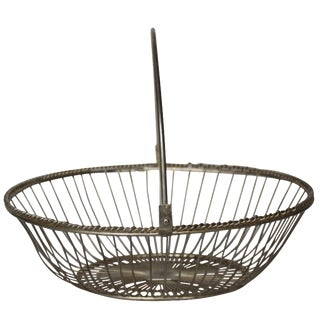 Mid-Century Silver-Plate Basket
