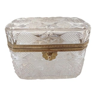 Antique French Crystal Box or Casket