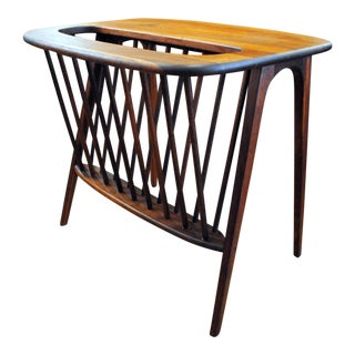 Arthur Umanoff Mid-Century Magazine Holder Table