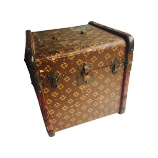 Antique Canvas French Steamer Trunk