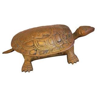 Mid-Century Brass Turtle Keepsake Trinket Box
