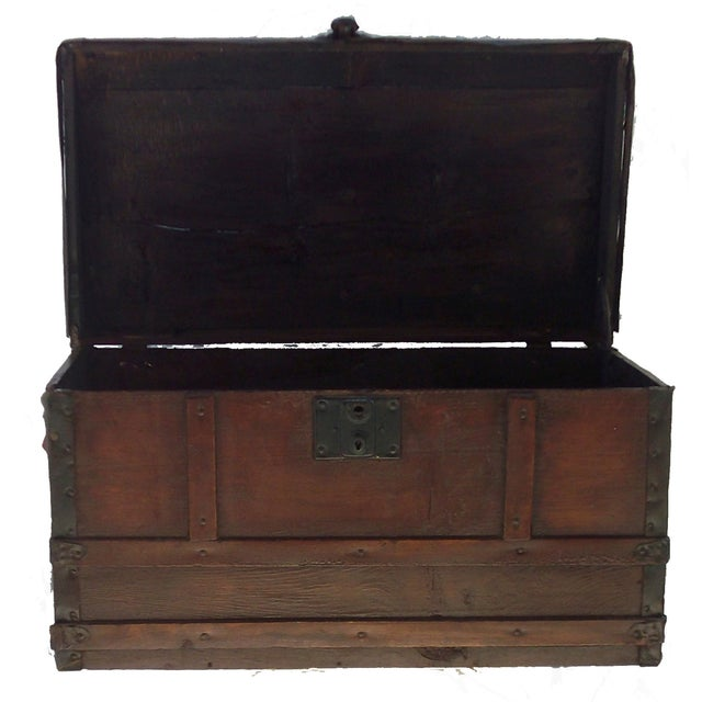 Small Antique Document Trunk - Image 2 of 3