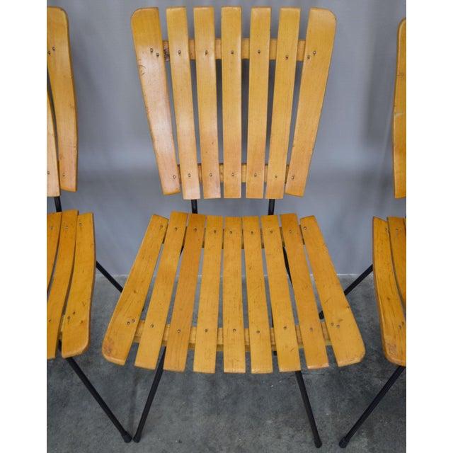 Arthur Umanoff Raymor Mid-Century Slat Chairs, Set/4 - Image 8 of 9
