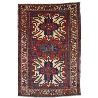 Vintage Persian Heriz Rug - 4′8″ × 6′11″