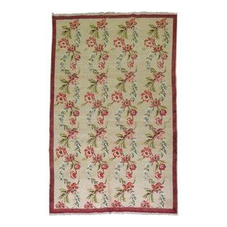 """Vintage Turkish Floral Rug - 4'8"""" x 7'4"""""""