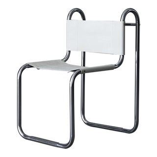 1940's chrome and leather desk chair by Peter Behrens