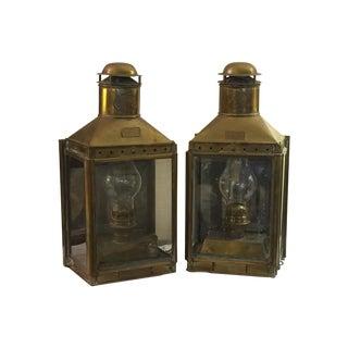 Brass Nautical Lanterns - Pair