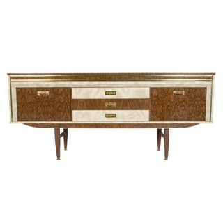 Swedish Modern Formica Credenza With Bar