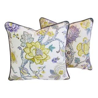 Designer P. Kaufmann Malawi Floral Pillows - a Pair