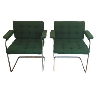Standig Mid-Century Emerald Chairs - A Pair