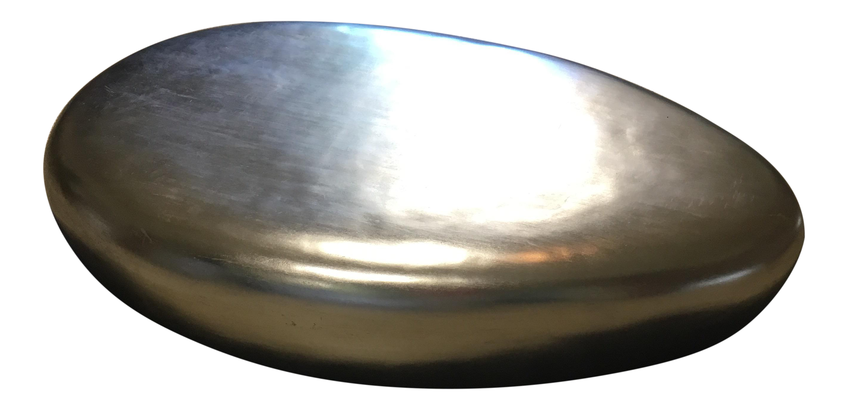 Oval Silver River Rock Coffee Table