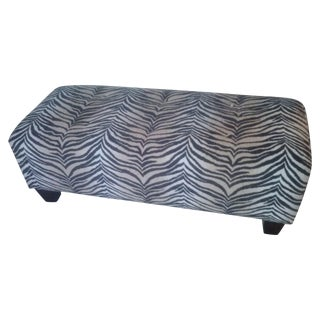 Plush Tiger Print Bench