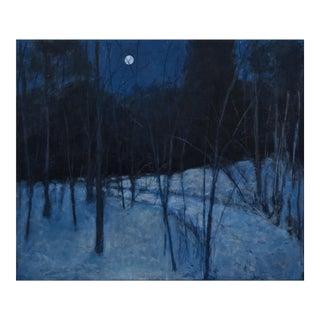 "Stephen Remick ""Full Moon Winter's Night"" Painting"