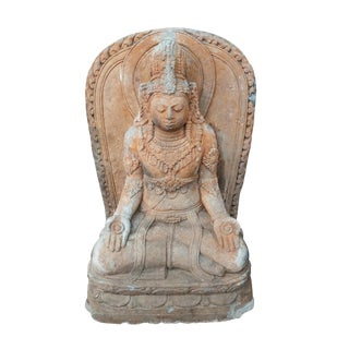 Stone Carved Quan Yin Figure