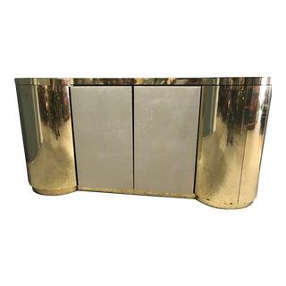 Philip Daniel Mid Century Gold Server Cabinet