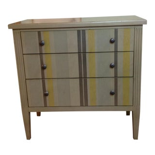 Hooker Furniture Grey Striped Chest of Drawers