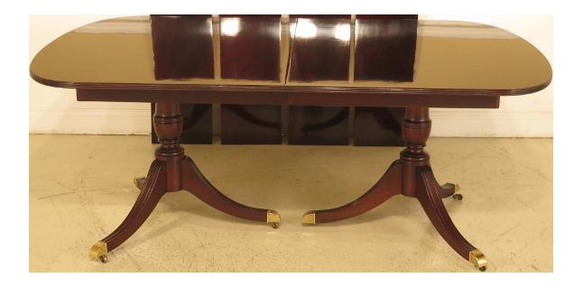 Wonderful Kindel Flame Grain Duncan Phyfe Mahogany Dining Room Table