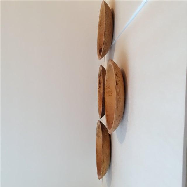 Primitive Wood Bowls - Set of 4 - Image 6 of 11