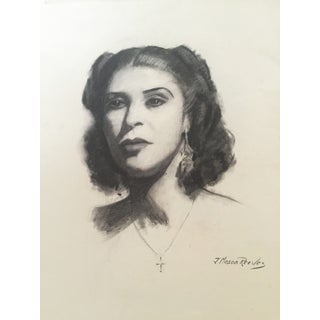 1950s Charcoal Portrait by Joseph Reeves