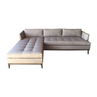 Modern Tufted Reversible Chaise Sofa