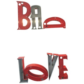 Upcycled Signage Letters - Bad Love