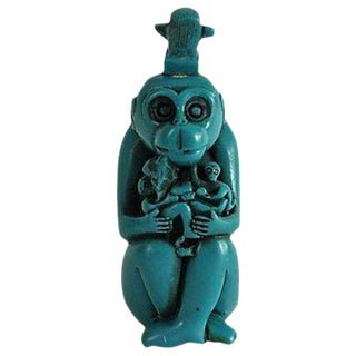 Turquoise Monkey Snuff Bottle