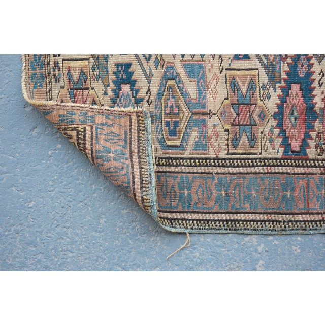 "Antique Caucasian Kuba Rug -- 2'11"" x 3'7"" - Image 5 of 7"