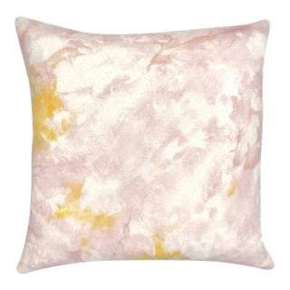 "Marbled Blush Pink Boho Pillow Cover - 18"" x 18"""