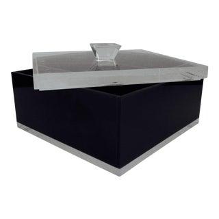Alessandro Albrizzi Black Lucite Box