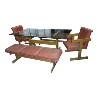 Harvey Probber Style Dining Table With Bench & Chair - Set of 5